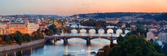Prague Sunset, Czech Republic. River Vltava and those bridges in the classical view from Letna Gardens.  About One Photo a Day: As we publish one fresh phototo a handful of social media platformsdaily for promotion, wekeepit in the blog … Read More
