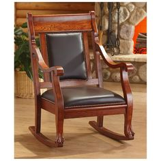 CASTLECREEK™ Rocking Chair offers solid wood comfort in a traditional style.