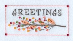 Autumn Greetings - 5x7 | Fall | Machine Embroidery Designs | SWAKembroidery.com Starbird Stock Designs
