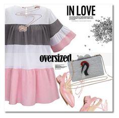 """Oversized dress"" by svijetlana ❤ liked on Polyvore featuring vintage, polyvoreeditorial, oversizeddress and twinkledeals"