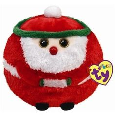 Ty Beanie Ballz Kringle - Santa: I ride in a sleigh high in the air, And pass out toys I made with care ! Ty Beanie Ballz, Ty Beanie Boos, Beanie Babies, Boys And Girls Club, Boy Or Girl, Big Eyed Stuffed Animals, Dog Toys, Kids Toys, Ty Peluche