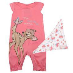 Disney-Baby-Girl-Bambi-Summer-Romper-Suit-Onesie-Playsuit-Outfit-Set