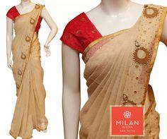 To order plz WhatsApp me to 91 7730891805 Trendy Sarees, Stylish Sarees, Fancy Sarees, White Saree Blouse, Saree Dress, Traditional Sarees, Traditional Fashion, Mirror Work Saree, Set Saree