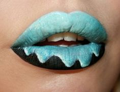Maquillaje de helado para. labios.. ice cream lipslips