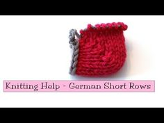 Learn how to knit German short rows by watching this great video tutorial. It is a great alternative to doing wrap and turn when knitting short rows . Knitting Short Rows, Knitting Help, Knitting Videos, Knitting Stitches, Knitting Projects, Knitting Socks, Knitting Tutorials, Knitting Machine, Short Tejidos