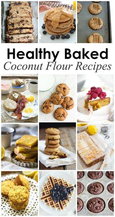 18 Healthy Baked Coconut Flour Recipes to try from healthy food bloggers! These are look amazing!