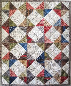 Barbara Brackman's MATERIAL CULTURE, Kindred Quilts, Tabitha, made with Metropolitan Fair fabric by Barbara Brackman