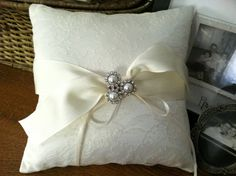 Chantilly Lace Ring Bearer Pillow by SewMyDream on Etsy, $55.00