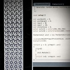Mosaic Knitting Pattern Generator