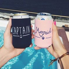 Double tap if you could use a warm getaway with the girls right about now! ⛵️⚓️ We're loving these cute coozies for a seaside bash! by @maryekeegan