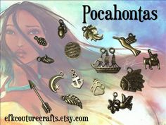 Pocahontas Charms Antiqued Bronze 30 by EFKCoutureCrafts on Etsy, $4.00