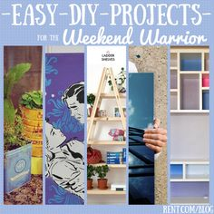 Looking for something to do this weekend? Take a look at these easy #DIY projects perfect for the weekend warriors and new crafters!