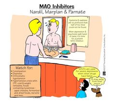 MAOI's - stay away from foods that contain tyramines!