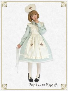 Anne Nurse Set (OP/Apron/Nurse Cap) by Alice and the Pirates