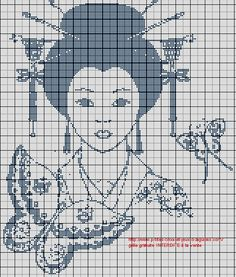 Voici deux grilles de portrait d'une femme d'Asie.