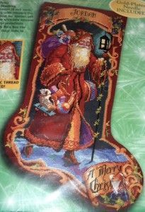 Victorian Father Christmas | victorian father christmas santa 42 counted cross stitch chart free ...