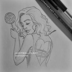 Lollipop girl  by juditmallolart.deviantart.com on @DeviantArt