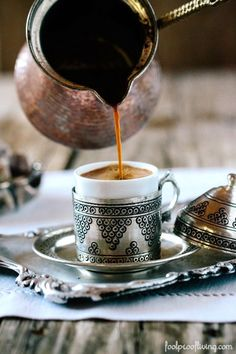 How to make and serve Turkish coffee with step by step easy instructions. #coffee #turkishcoffee