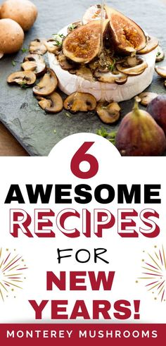 New Year's Recipes - - Don't know what to bring to you New Year's Eve bash? Here are five mushroom-inspired New Year's Eve recipes: all easy to whip up during the busy . New Years Eve Menu, New Years Eve Dessert, New Year's Eve Appetizers, Appetizer Recipes, Snack Recipes, Best Mushroom Recipe, New Year's Desserts, New Year's Eve Cocktails, Recipes