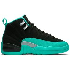 Air Jordan 12 Retro GS Hyper Jade ❤ liked on Polyvore featuring shoes and sneakers
