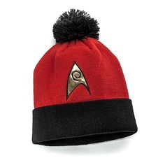 Star Trek: The Original Series Knit Hat - Operations Division (Red) ($14.99)
