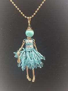 MUST SEE! BNWT, Cute Hand Made French Crystal Doll Necklace, Pendant, Keychain