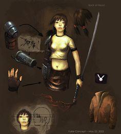 Yukie - concept art   Vampire the Masquerade: Bloodlines