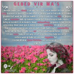 Happy Mothers Day Poem, Afrikaans Quotes, Meet U, Movie Posters, Bring It On, Film Poster, Billboard, Film Posters