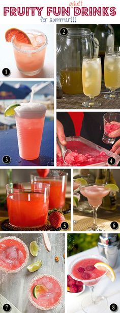 8 Fruity Fun (adult) Drinks for Summer | {enjoy the view}