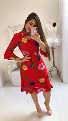 Cheap Dresses, Cute Dresses, Beautiful Dresses, Casual Dresses, Fashion Dresses, Kaftan Designs, Flowery Dresses, Trend Fashion, Church Dresses