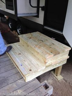 Best Unique Wooden Portable Steps For Your Travel Trailer You 400 x 300