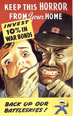 This is a propaganda poster that is made to put fear into parents' minds about something bad happening to their family, if the war continued and traveled overseas to where they lived. This would encourage men and women to help in the war anyway they could so their families don't get effected like this picture shows.
