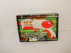 Toy Laser Gun Pistol Boley Electronic Lights Sound Boys Girls Age 5 White Orange #Boley