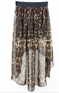 Graceful Before long after short leopard dovetail  Dress (Same,as,photo) Maxi Skirts from stylishplus.com