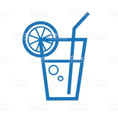 Summer cold drink outline line art flat icons - Royalty-free Blue stock vector Summer Icon, Flat Icons, Book And Magazine, Advertising Design, Free Vector Art, Label Design, Magazine Design, Cold Drinks, Graphic Design Inspiration