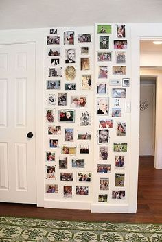 Hand Drawn Picture Frames -- cool idea for photo wall, easy to change out pics often and easy to paint over when tired of it!