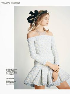 Vogue China Editorial June 2014 - Magdalena Frackowiak by Patrick Demarchelier  Photographer: Patrick Demarchelier Stylist: Daniela Paudice Model: Magdalena Frackowiak Casting Director: Piergiorgio Del Moro Hair Stylist: Teddy Charles Makeup Artist: Fulvia Farolfi Manicurist: Megumi Yamamoto