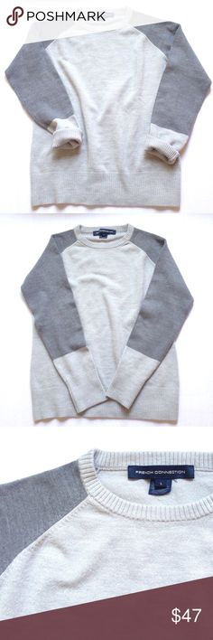 """French Connection gray sweater French Connection gray sweater in size large. Pit to pit 18"""", length 23. EUC like new, worn once. French Connection Sweaters Crew & Scoop Necks"""