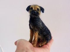 needle felted border terrier 'Blue' Needle Felted Animals, Felt Animals, Knitted Animals, Border Terrier, Fuzzy Felt, Wool Felt, Puppy Room, Needle Felting Tutorials, Cat Fabric