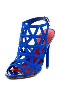 Cobalt Blue Cutout Heels