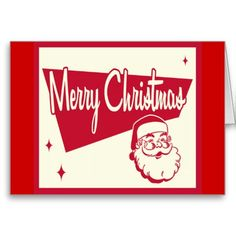#Vintage #Retro #Santa #Christmas Card Classic Design