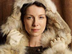 Caitriona Balfe as Claire Fraser.