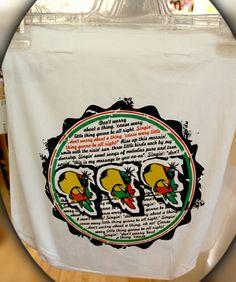 "#DIY in #Berlin - http://www.my-tagshirt.de?utm_content=bufferff224&utm_medium=social&utm_source=pinterest.com&utm_campaign=buffer mit einem #einfach geilen Beutel mit Bob Marley´s ""3 little birds"""
