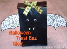 Treat bag ideas for a Halloween Party