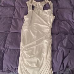 Greek Style Looking Dress/Top This item can be work as a dress (if you're shorter like me) but can also be worn as a long top. The back is very pretty braiding with multiple straps. No stains or tears Dresses Mini