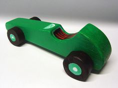 wood toy car  boy's gift  Green retro Race Car by objecta on Etsy, €20.00