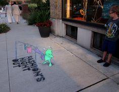 street art by David Zinn