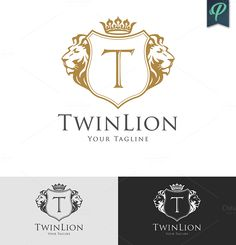 TwinLion - Heraldry Logo Template by PenPal on Creative Market