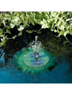 Solar Pond Fountain: Floating Pond Fountain   Gardeners.com