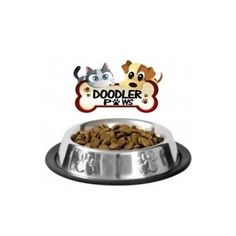 Stainless Steel Pet Food Bowl/ Dish Removable Rubber Base Easy Clean Durable NEW